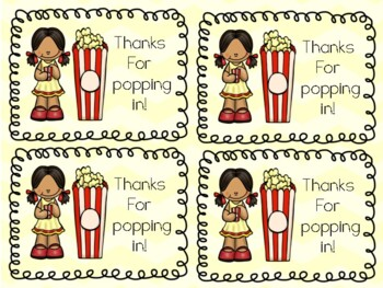 Back to School Popcorn Tag