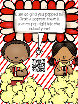 Back to School Popcorn Treat with QR code