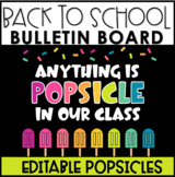 Back to School Popsicle Bulletin Board or Door Display | Editable Popsicles