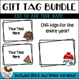 Editable Year Long Gift Tags