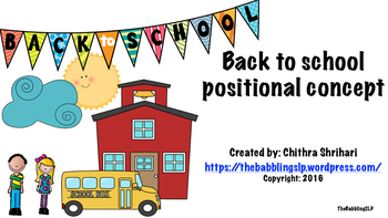Back to School - Positional Concepts