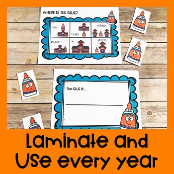 Back to School Positional Word Game | Special Education and Autism Resource