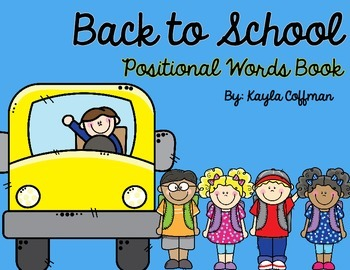 Back to School Positional Words Book