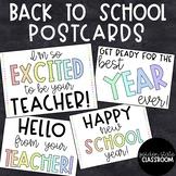 FREEBIE Back to School Postcard  |  Distance Learning