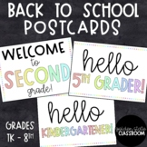 Back to School Postcards  |  Distance Learning