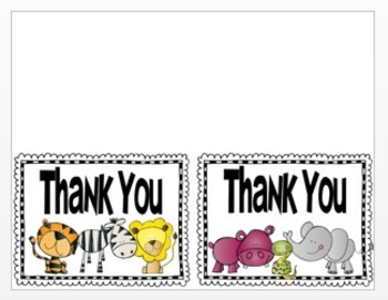 Back to School: Post Cards and Note Cards Wild Jungle Theme Editable
