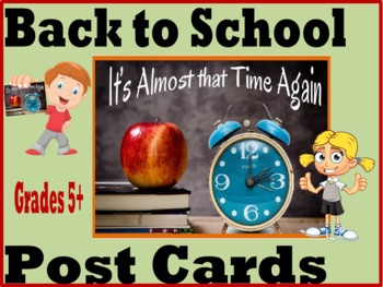 Back to School Post Cards for Grades 5+