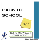 Back to School: Fun Get to Know Each Other Activity