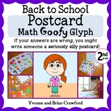 Back to School Postcard Math Goofy Glyph (2nd grade Common Core)
