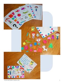 Back to School Postcard Math Goofy Glyph (Algebra)