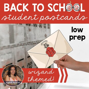 Back to School Postcards from Teacher to Students (Wizard Themed)