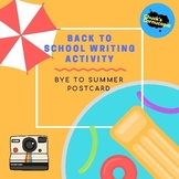 Back to School Postcard writing activity