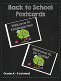 Back to School Postcards (includes PNG and PDF files)