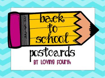 4th Grade Back to School Postcards