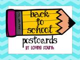 Back to School Postcards K-5