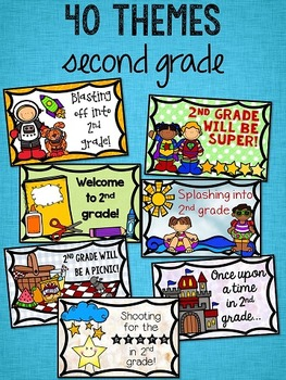 Back to School Postcards: 2nd Grade