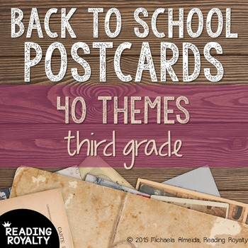 Back to School Postcards: 3rd Grade