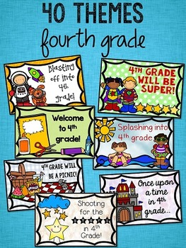 Back to School Postcards: 4th Grade