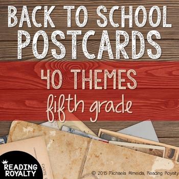 Back to School Postcards: 5th Grade