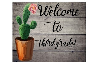 Back to School Postcards--CACTUS AND SHIPLAP