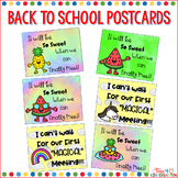 Back to School Postcards Distance Learning