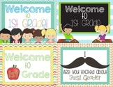 Back to School Postcards First Grade