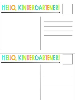 Back to School Postcards K-5 Editable