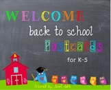 Back to School Postcards - Owl Themed