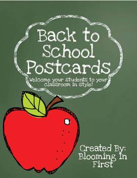 Back to School Postcards- Rainbow Pencil Themed