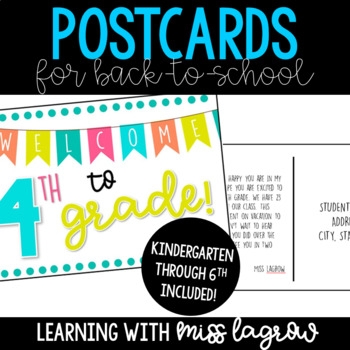 Back to School Postcards Welcome Letter