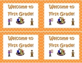 Back to School Postcards- Welcome to Kindergarten, First o