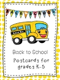 Back to School Postcards for 2018