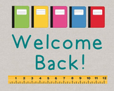 Back to School Poster, Class Decor, Holiday Sign, Bulletin Board