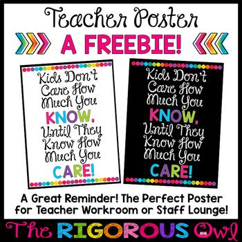 Back to School Poster Freebie