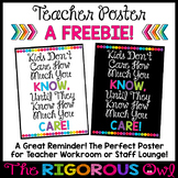 Back to School Poster Freebie