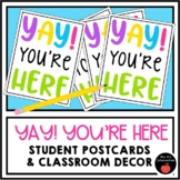 Back to School Postcards or Door Decoration Yay! You're Here