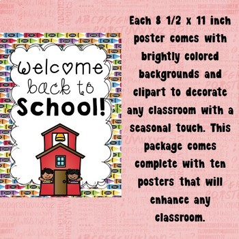 Back to School Poster Set for the Classroom
