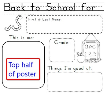 Get to Know You Back to School Poster for Grades 2 through 5
