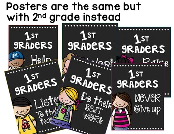 Back to School Posters 2nd Grade