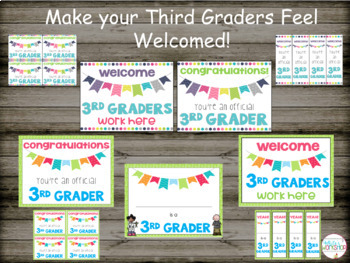 Back to School Bulletin Board Posters and Bookmarks Bundle