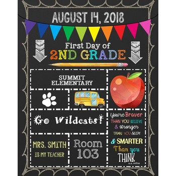 PERSONALIZED First Day of School Posters - Classroom
