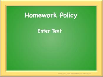 Back to School Editable Power Point (Green Board)