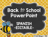 Back to School PowerPoint - Bee {SPANISH}