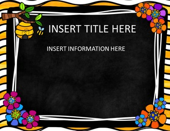 Back to School Editable PowerPoint {Bee Theme}