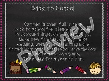 Back to School PowerPoint Editable!