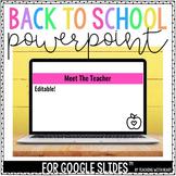 Back to School PowerPoint (Editable)
