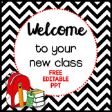 Back to School PowerPoint Freebie {editable template}