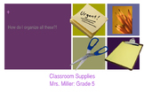 Back to School PowerPoint: How to Organize Supplies