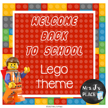 Back to School PowerPoint Brick Builder/Lego inspired theme
