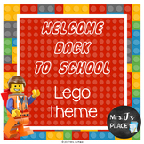 Welcome Back to School PowerPoint Brick Builder/Lego theme